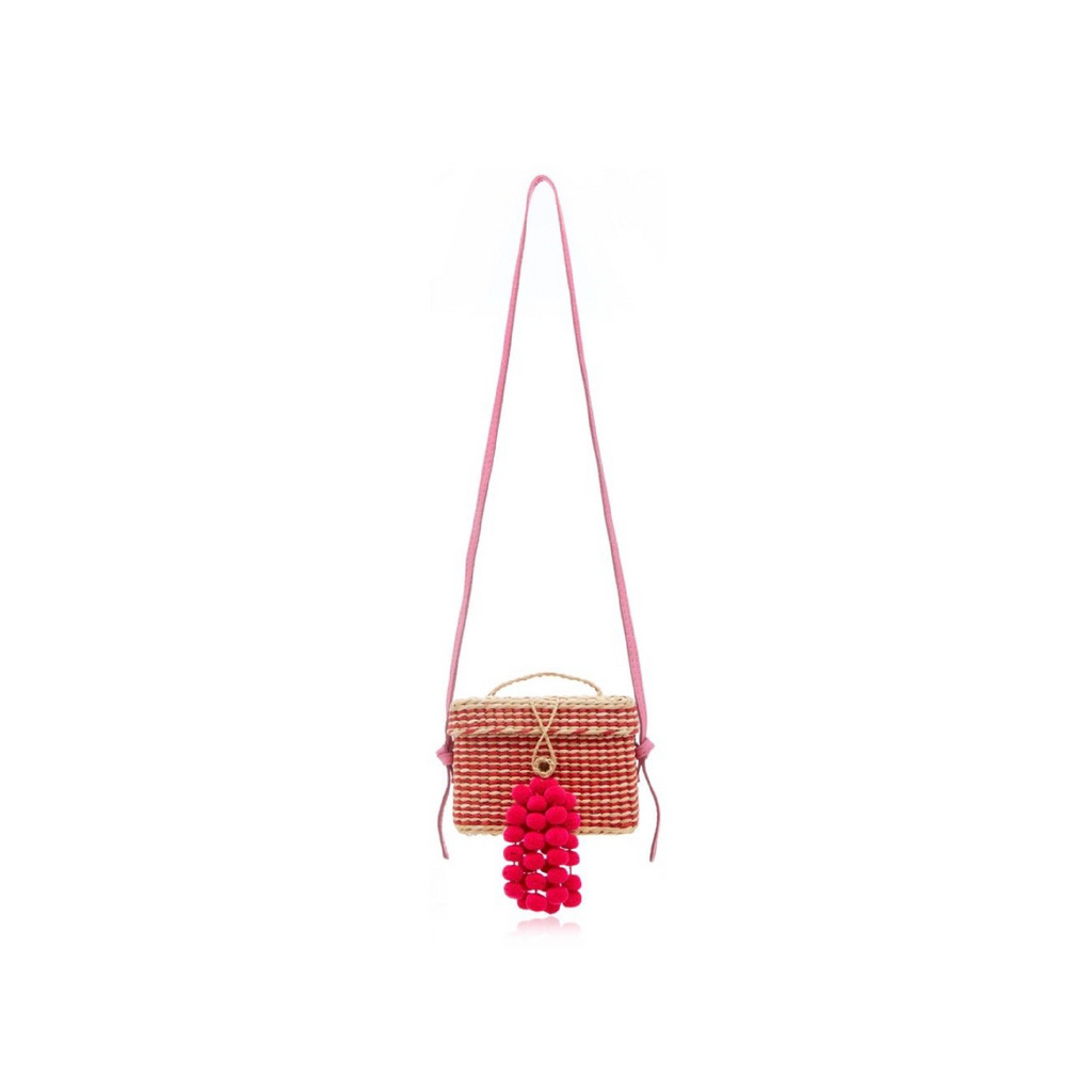 ROGE SMALL STRIPES WITH LEATHER STRAP & MINI STRINGS, PINK