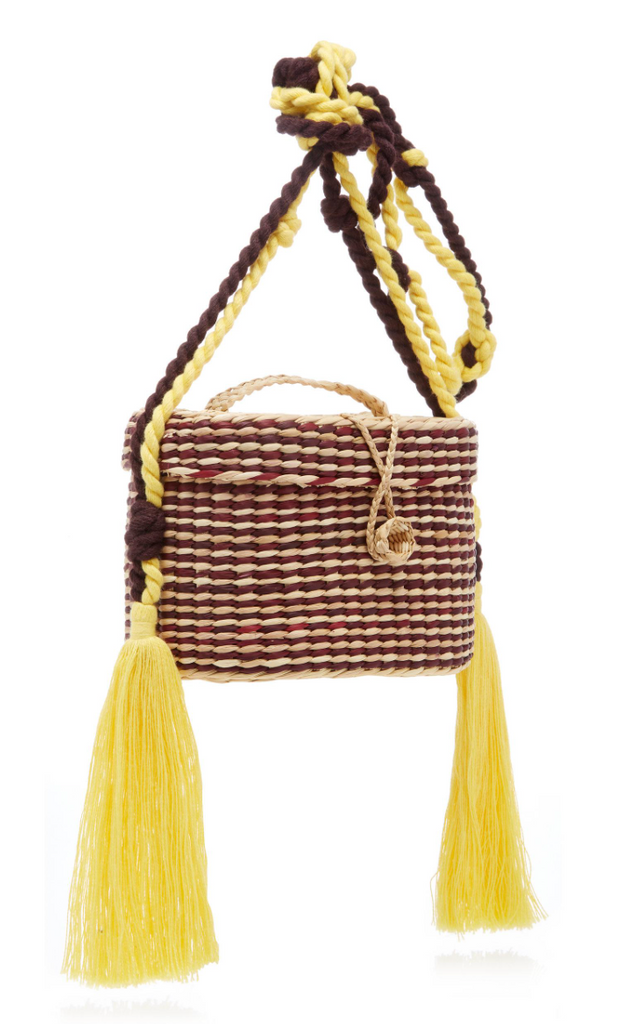 KIKI SMALL & ROPE HANDLE, OFF WHITE/BROWN