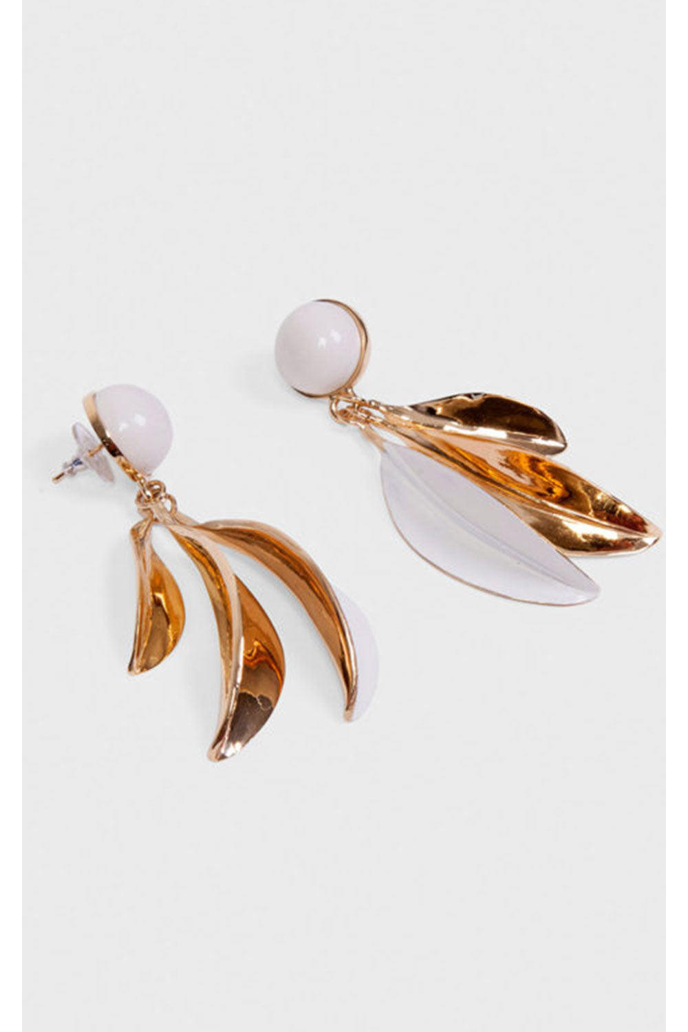 ANDRES GALLARDO PORCELAIN LEAVES AND BALLOON EARRINGS