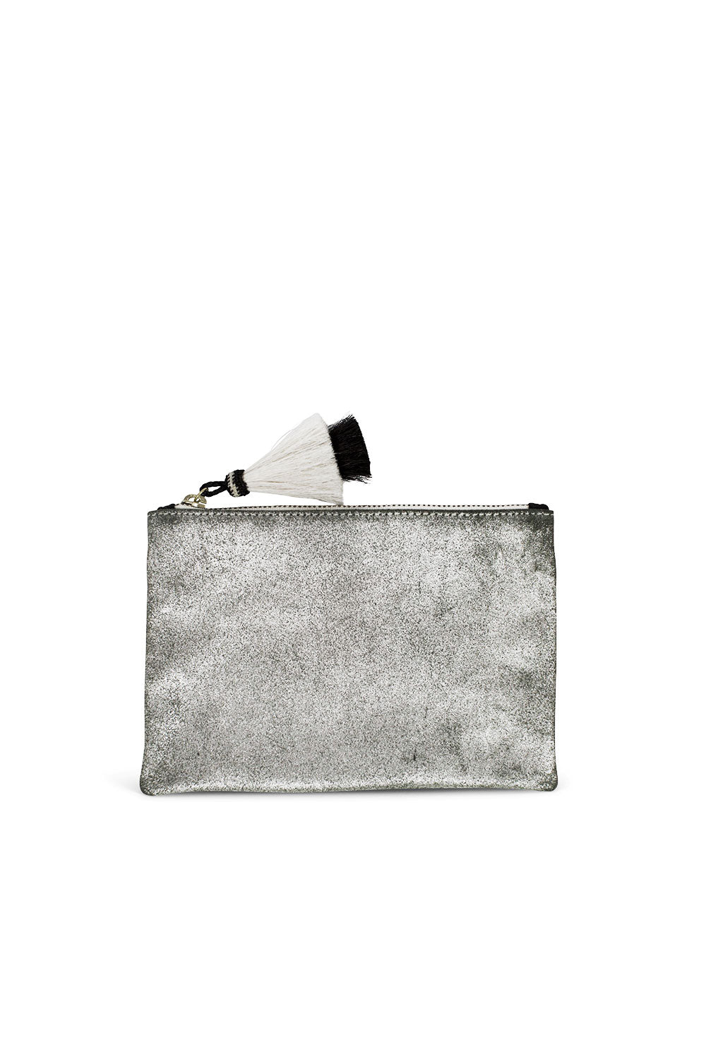 METALLIC SUEDE SMALL POUCH