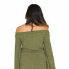 Green Knit Sweater Dress