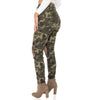 High Waisted Distressed Camouflage jeans