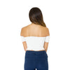 Shearing Detail Bardot Crop Top