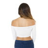 Cross Front Ruched Sleeve Crop Top