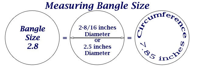 Measuring bangle size sigeeka