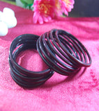 Brown glass bangles