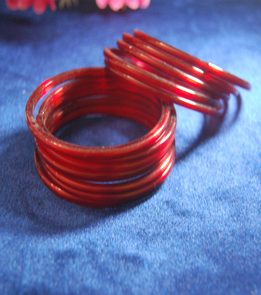 Maroon glass bangles