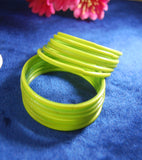 Parrot Green glass bangles
