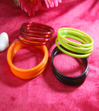 Plain glass bangles Maroon Orange Yellow Black combo set of 48