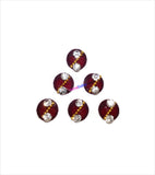 Round maroon bindi having two stones