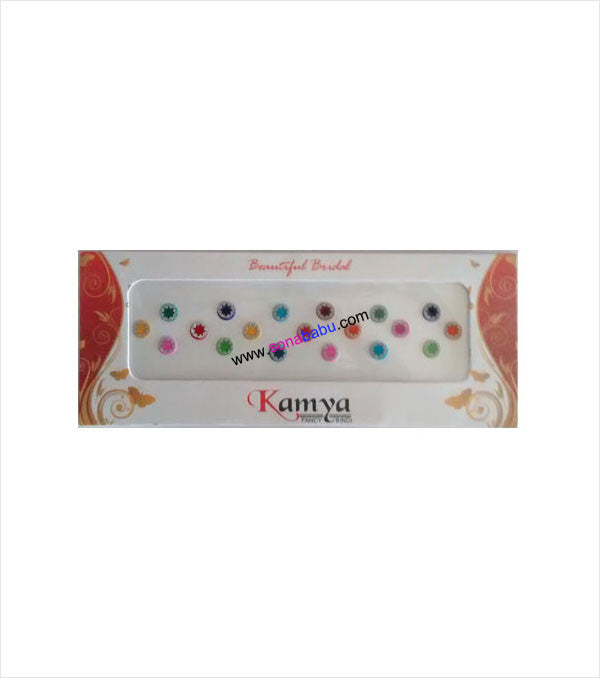 Multicolour bindi with designer work
