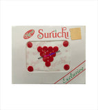 Suruchi plain red bindis size 7