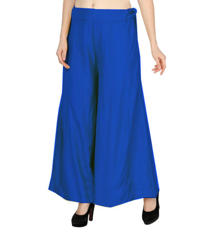 Blue rayon kalidar sharara without lace