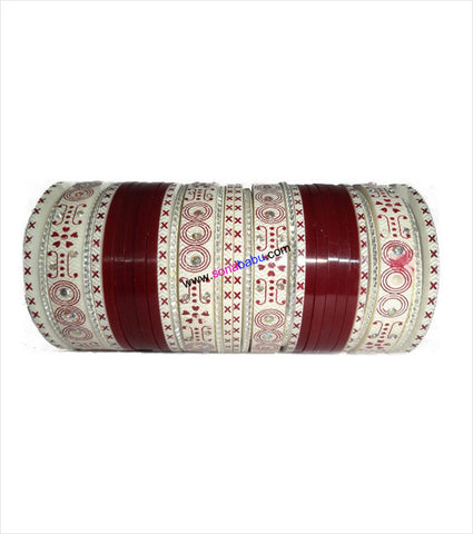 Maroon suhag chura small set