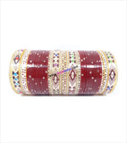 Maroon suhag chura with various design