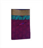 Kota emboss cotton saree with zari & floral design in pallu