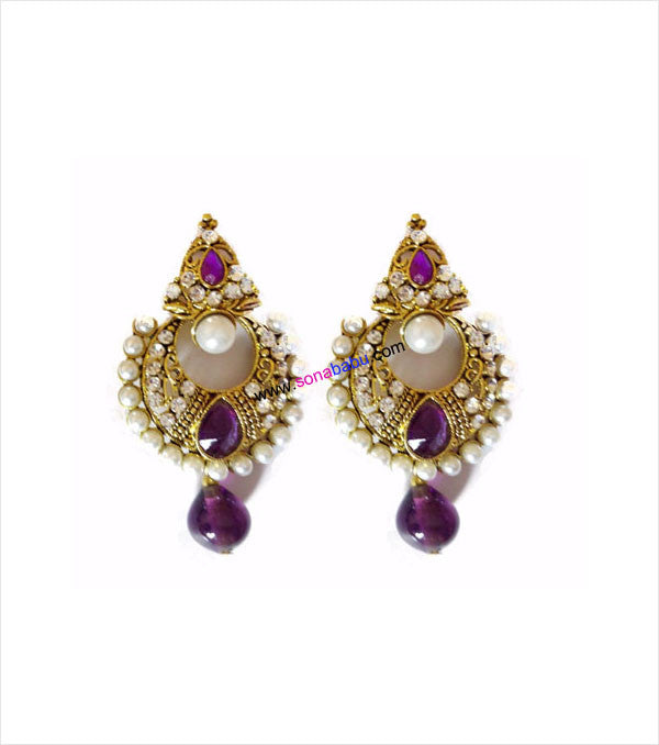 Purple alloy danglers and drop