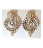 White shinning danglers and drop