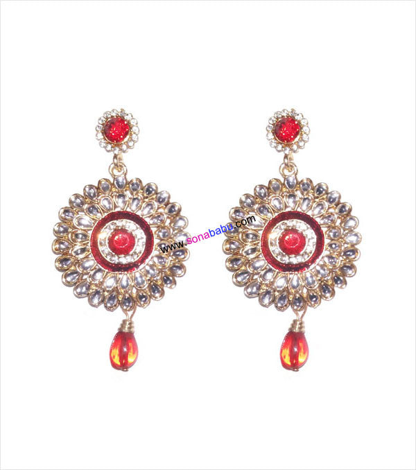 Designer danglers with red drop