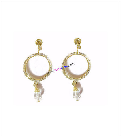 Golden Alloy Danglers in jhumki style