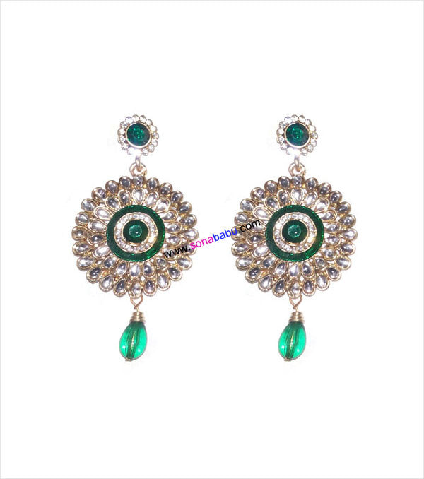 Designer danglers with green drop
