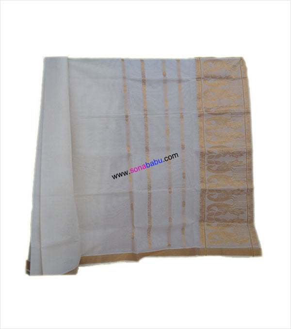 Kerala Kasavu Cotton Saree