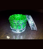 Green and white transparent kids bangles full set