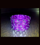 Purple transparent kids bangles set of 8