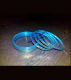 Blue golden fiber kids bangles set of 8