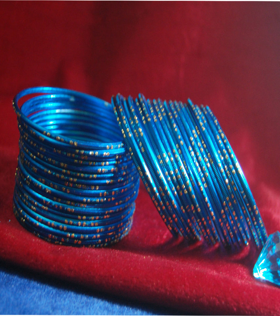 Metal bangles with full work set of 36
