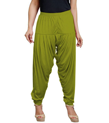 Olive viscose solid patiala