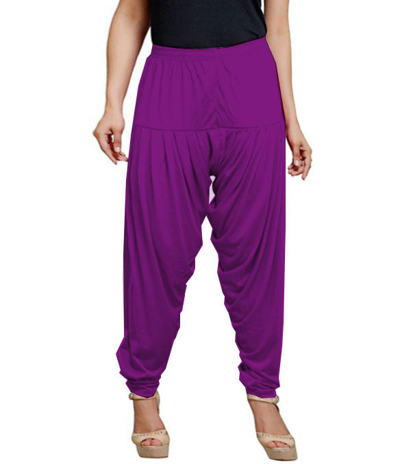 Purple viscose solid patiala