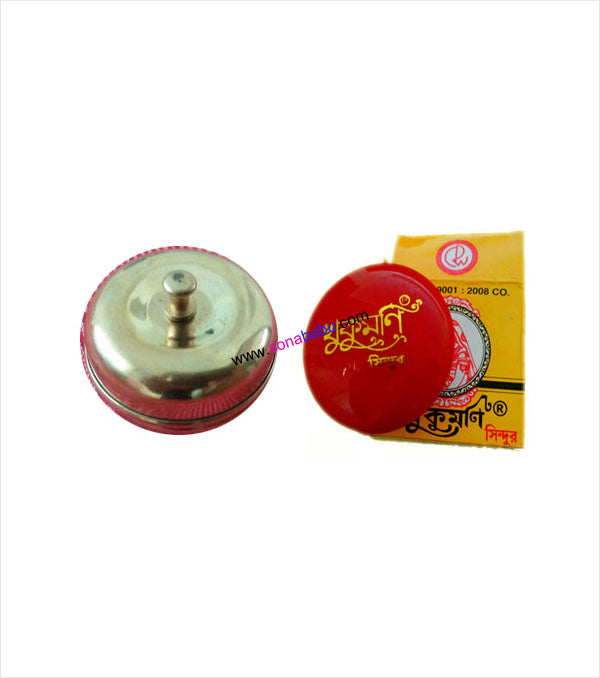 Golden Sindoor Kiya and Bengali Sindoor Combo Set