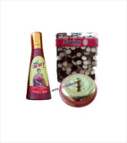 Golden Sindoor Kiya Red Alta and Maroon Bindi Box Combo Set