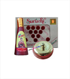 Suruchi Bindi Red Alta and Golden Sindoor Kiya Combo Set