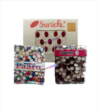 Red Maroon Bindi Combo Set