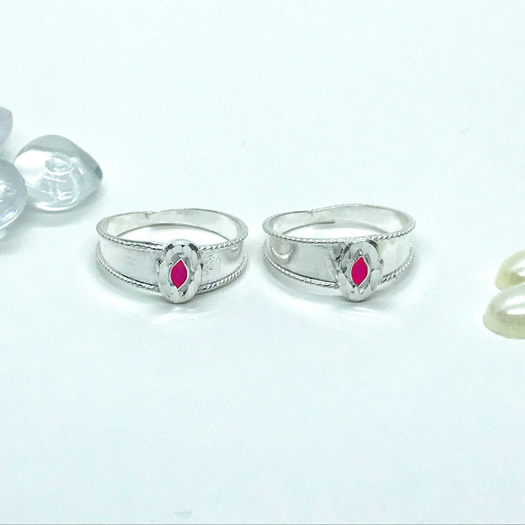 Silver Toe Rings with Square shape