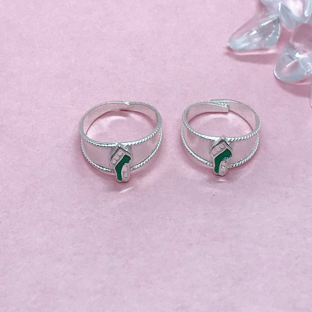 Silver Toe Rings with stones and beautiful design