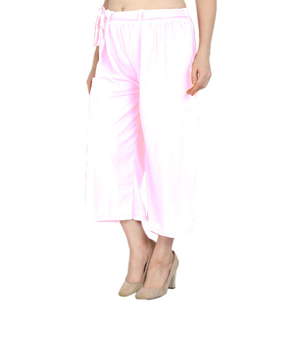 White culottes lycra cropped palazzo