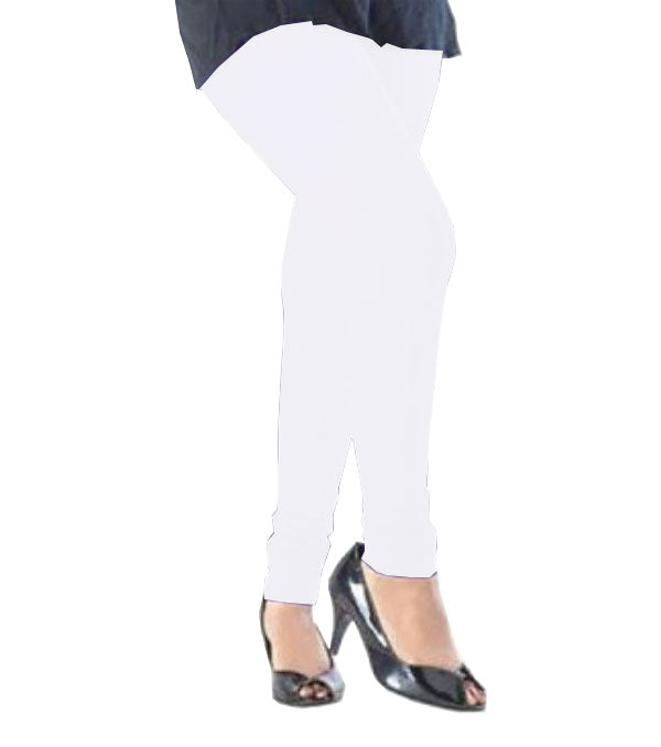 White viscose solid legging