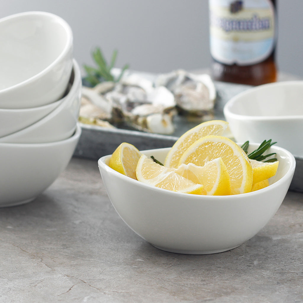 PORCELAIN SMALL BOWLS 10 OUNCE, SET OF 6