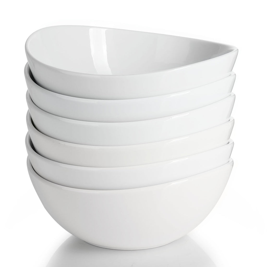 Porcelain Cereal Bowls 28 Ounce, White