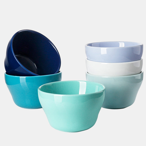 Porcelain Bouillon Cups 8 Ounce, Cold Assorted Colors