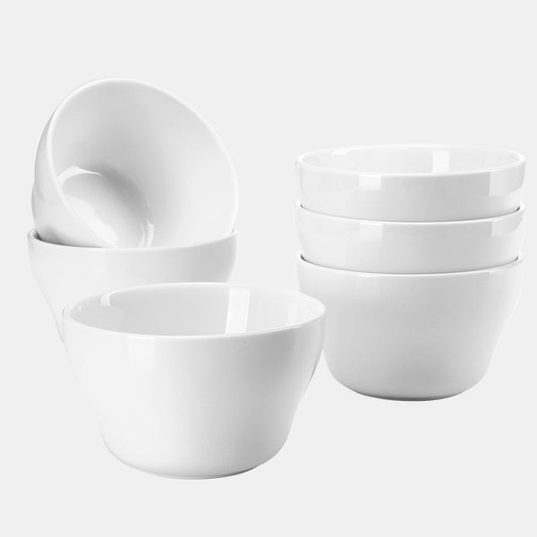 Porcelain Bouillon Cups 8 Ounce, White