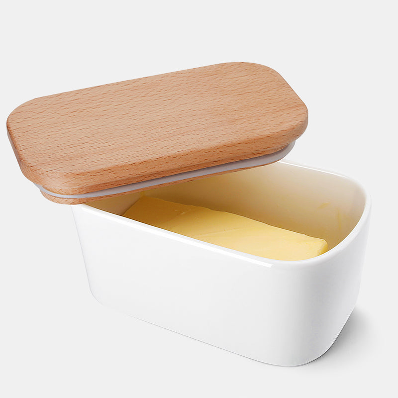 Butter Dish with Beech Wooden Lid