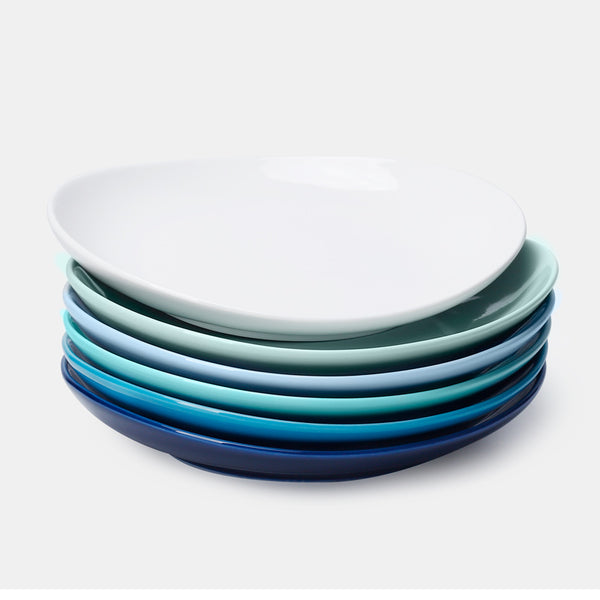 Porcelain Dessert Salad Plates 7.8 Inch, Cool Assorted Colors