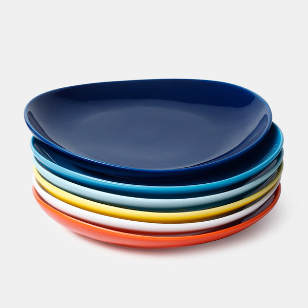 Porcelain Dessert Salad Plates 7.8 Inch, Hot Assorted Colors