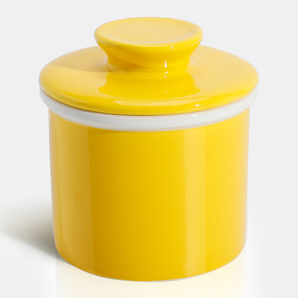 Porcelain Butter Keeper, Yellow