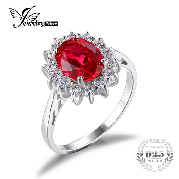 Princess Red Created Ruby Wedding Ring