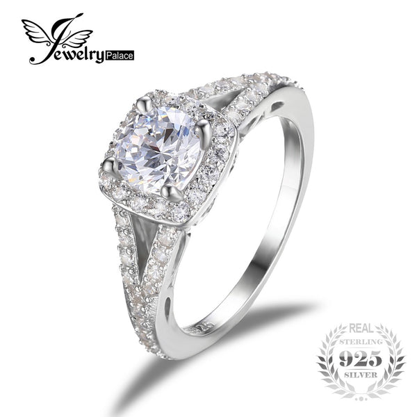 1.65 ct Gem Pure Silver Wedding Ring